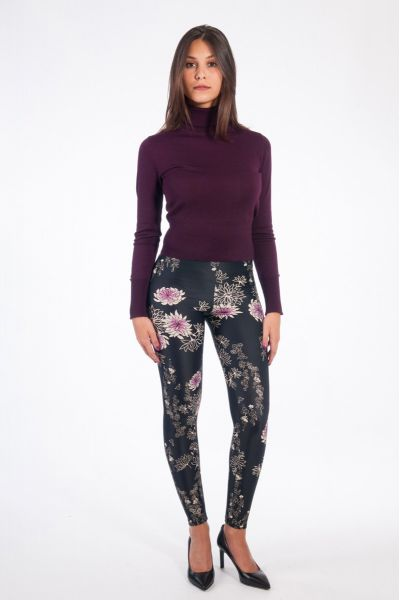 LEGGINS STAMPATO BLACK