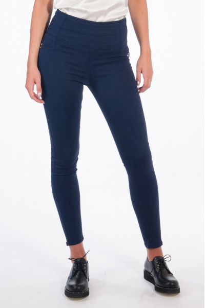 Pantalone Jeggins a Vita Alta Blue Lapis