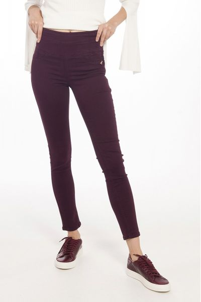 Jeggings a Vita Alta Plum Kiss