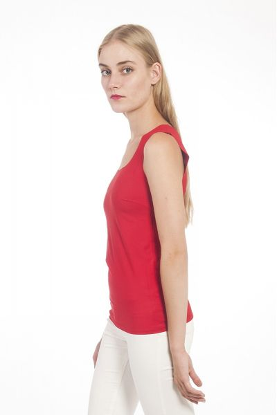 Canotta-Top in Lycra Sensitive di Patrizia Pepe