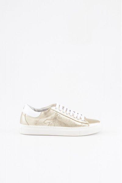 Sneakers in Pelle Laminara Gold