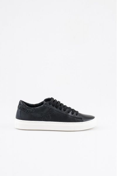 Sneakers in Pelle Nero