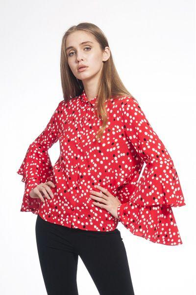 Camicia in Viscosa Stampata