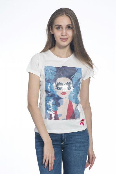 T-Shirt Stampata Full Paillettes