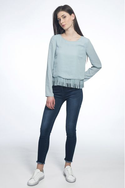 Pantalone Jeggins in Denim di Cotone Stretch
