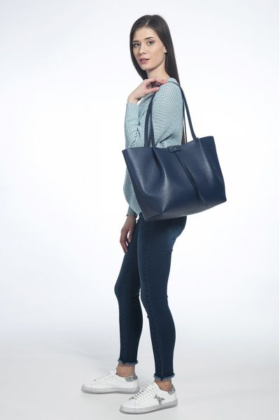 Borsa Shopping Grande Dress Blue di Patrizia Pepe