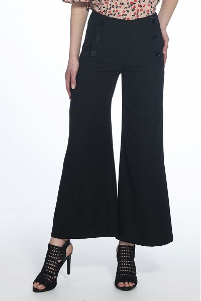 Pantalone Cropped a Vita Alta