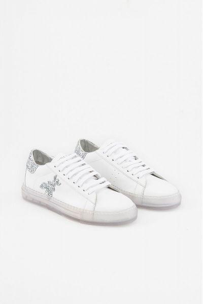 Sneaker in Pelle Glitter