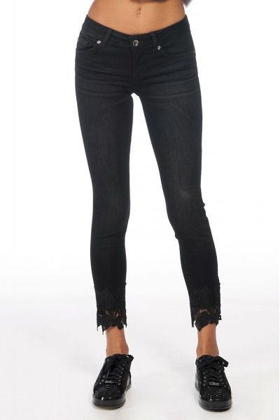 Jeans Skinny con Pizzo