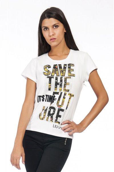 T-Shirt Stampata con Applicazione