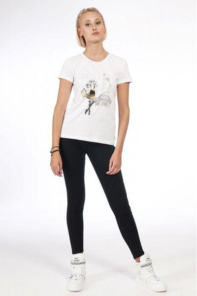 "T-Shirt Stampata ""New York"" di Patrizia Pepe"