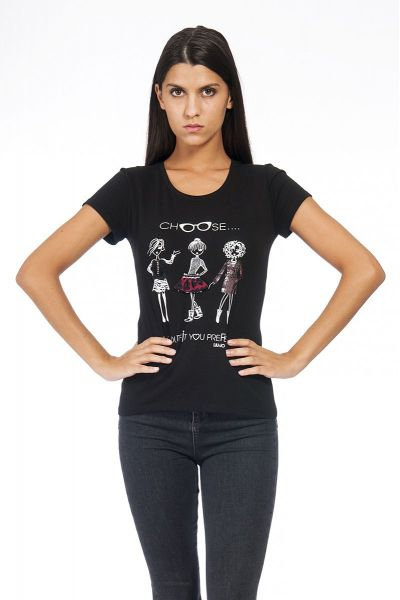 T-Shirt Stampata con Applicazioni