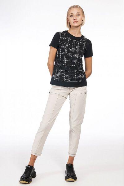 T-Shirt con Micro Borchie