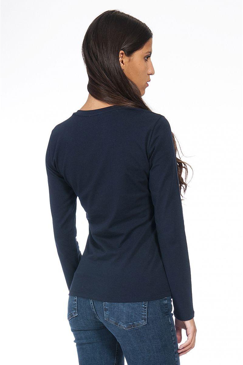 T shirt Moda Manica Lunga di Liu Jo Blu