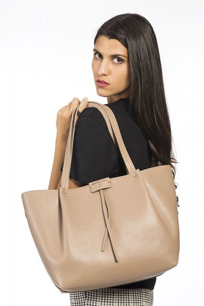 Borsa Shopping in Pelle di Patrizia Pepe Real