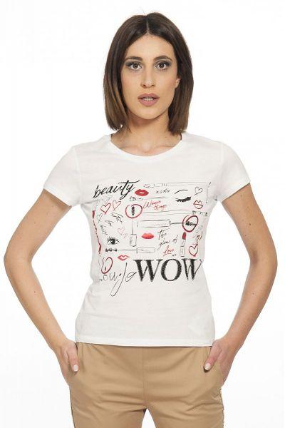 T-shirt con Stampa di Liu Jo Color Bianco