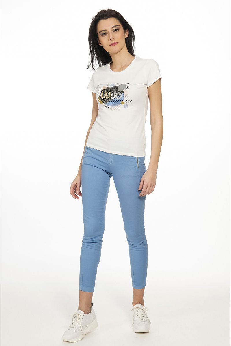 T Shirt con Applicazioni di Liu Jo