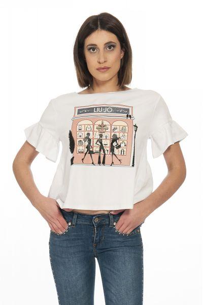 T-shirt con Stampa di Liu Jo Bianco