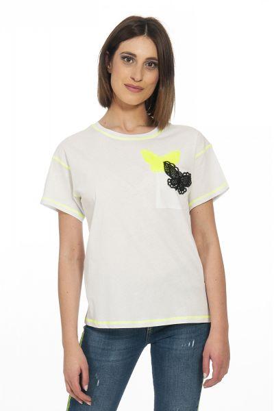 T-shirt Butterflies di Liu Jo Bianco