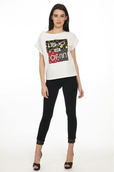 T-shirt con Logo di Liu Jo Bianca
