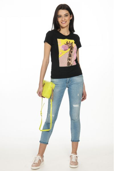 T-shirt Giraffa di Liu Jo Nera