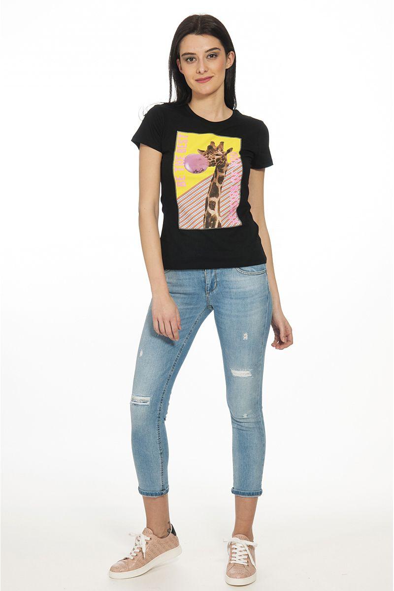 T shirt Giraffa di Liu Jo Nera