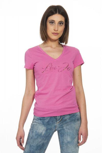 T-Shirt con Logo di Liu Jo Rosa