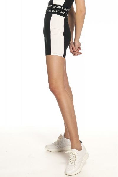 Pantalone Ciclista di Liu Jo Sport Bianco e Nero