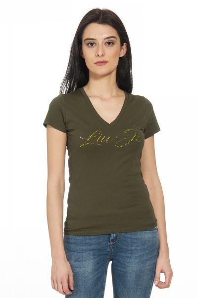 T-shirt con Logo di Liu Jo Verde