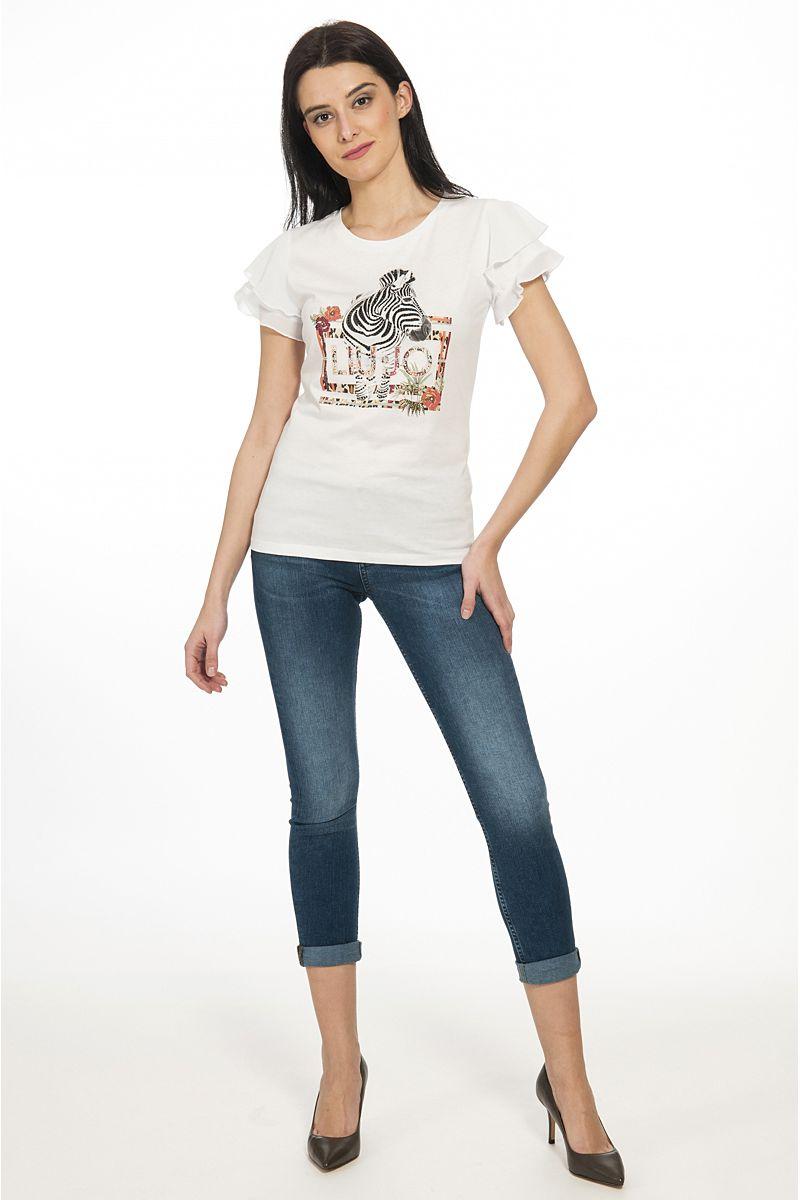 T shirt con Volant di Liu Jo Bianca