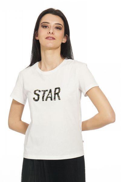 T-Shirt Girocollo con Stars di Patrizia Pepe