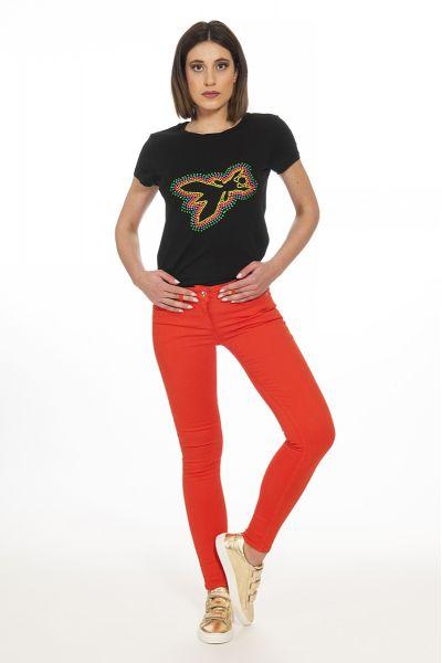 Pantalone 5 Tasche di Patrizia Pepe Rosso Red
