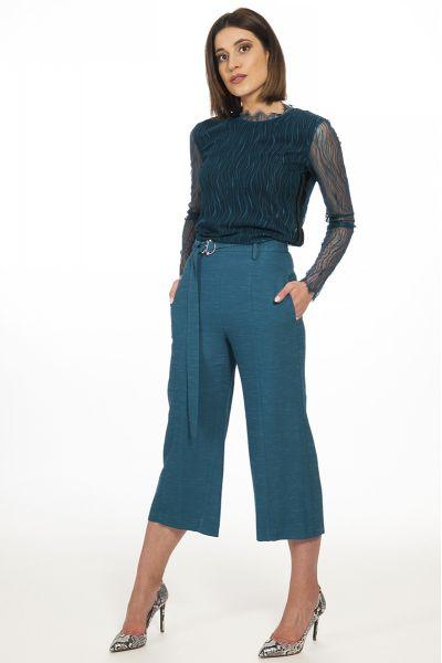 Pantalone Cropped di Patrizia Pepe Blu Sky