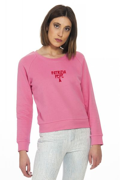 Felpa Girocollo di Patrizia Pepe Pink Rosa