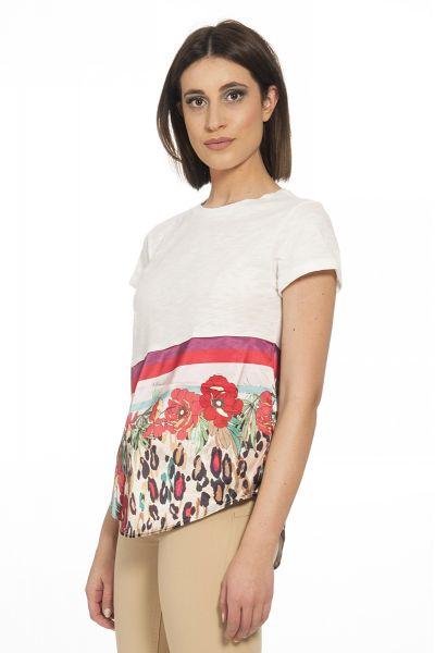 T-shirt di Liu Jo Bianco e Fantasia Multicolore