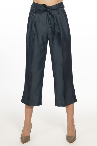 Pantalone Cropped High Waist di Liu Jo Blue Wash