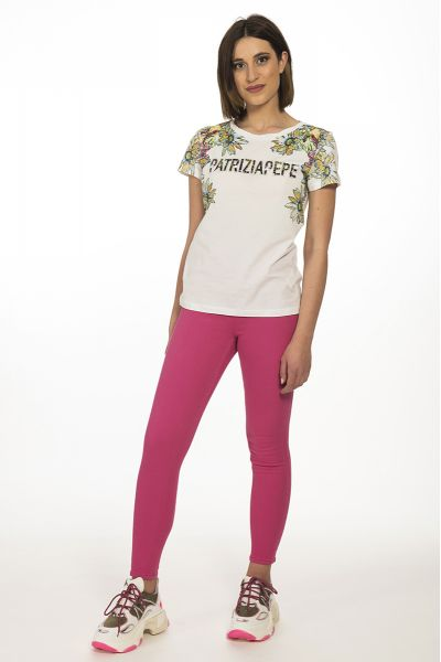 T-shirt Stampa Fiori Logata Patrizia Pepe Color Bi