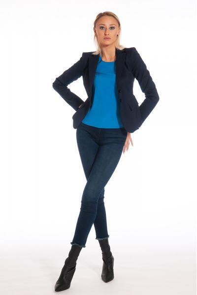 Giacca Slim in Bielastico Dress Blu