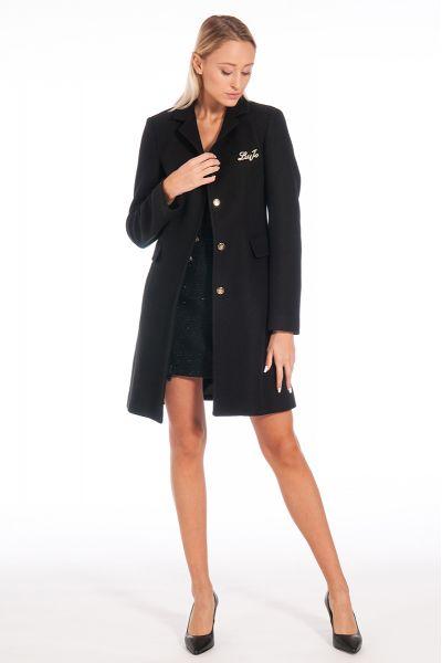 Cappotto con Spilla di Liu Jo Colore Nero