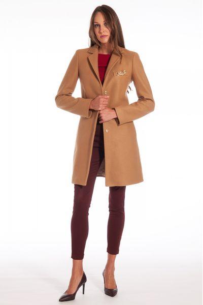 Cappotto con Spilla di Liu Jo Colore Brow