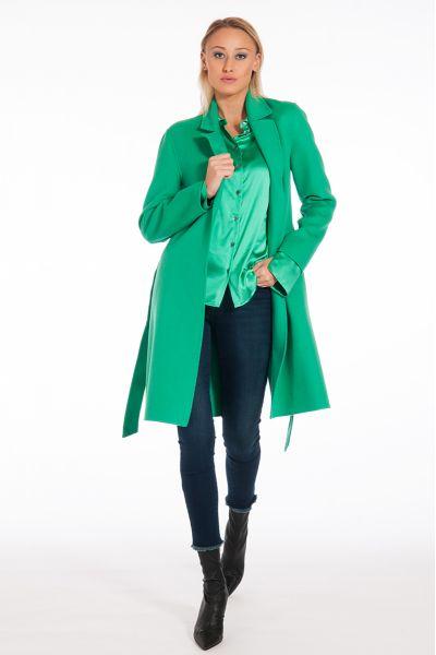 Cappotto in Misto Lana con Cintura di Patrizia Pep