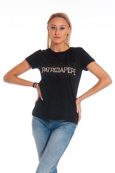 T-Shirt con Logo di Patrizia Pepe