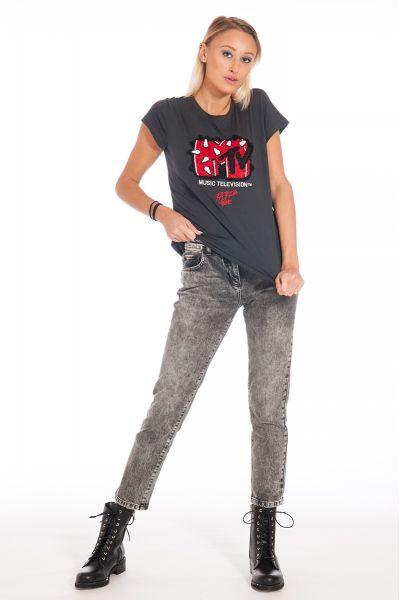 T-Shirt Manica Corta Stampa MTV di Patrizia Pepe
