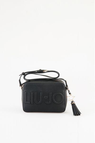 Borsa Tracolla con Logo Liu Jo Nero