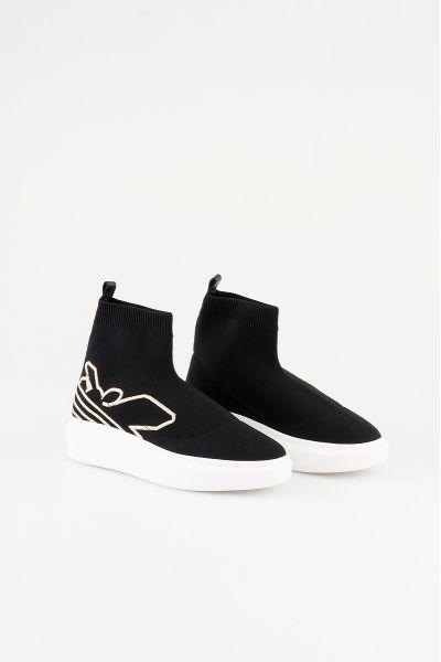 Knit Sneakers con Ricamo Fly in Maglia Stech Pepe