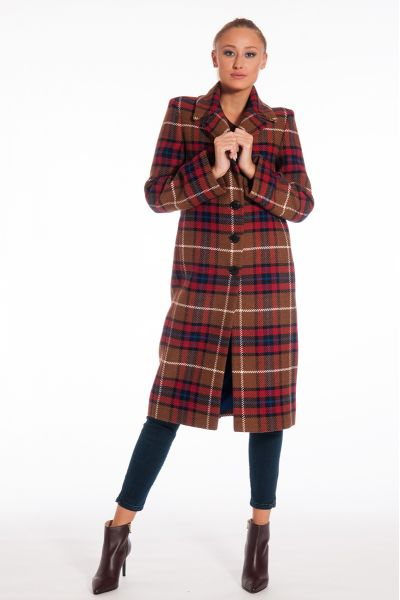 Cappotto Medio Fantasia Tartan di Nenette