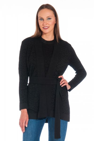 Cardigan in Viscosa di Nenette Nero