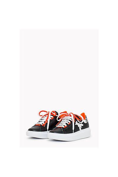 Sneakers inPelle di Vitello di Patrizia Pepe Nero