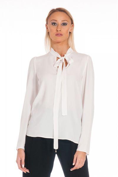 Blusa Con Fusciacca di Patrizia PepeColor Bianco