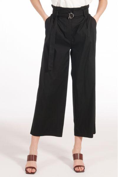 Pantalone in Popeline di Patrizia Pepe Nero